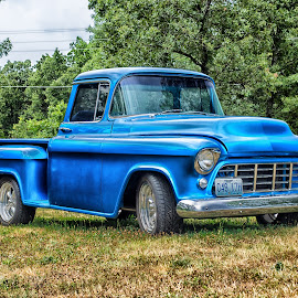 Old Truck by Brad Larsen - Transportation Automobiles ( field, hdr, truck, artistic objects, transportation )