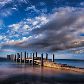 Jetty by Greg Tennant - Buildings & Architecture Bridges & Suspended Structures ( ocean, cloudscape, long exposure, water )