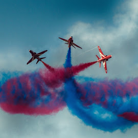 The Red Arrows by Stephen Hall - Transportation Airplanes
