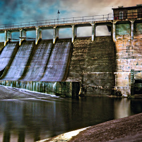 High Point Dam by Andrew Christmann - Landscapes Waterscapes ( water, dam, landscape, river )