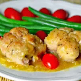 Drumstick Chicken With Cheese And Pineapple In Pineapple Sauce
