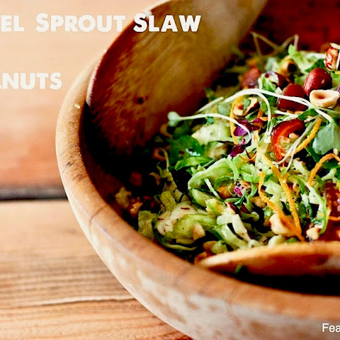 Brussel Sprout Slaw with hazelnuts and dates