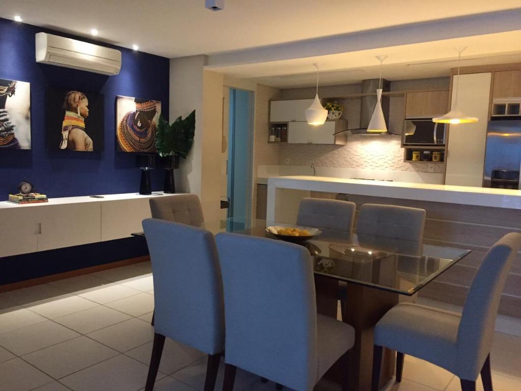 Apartamento com 3 dormitórios para alugar, 126 m² por R$ 3.370/mês - Ponta de Campina - Cabedelo/PB
