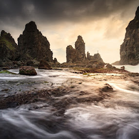 The Castle by Ady Lee - Landscapes Waterscapes ( waterscape, sunset, indonesia, landscape photography )