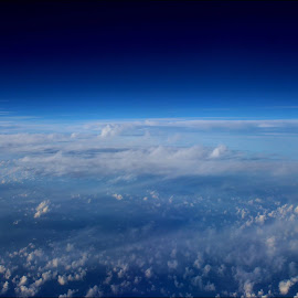 Blue sky White clouds by Sowmya Beena - Landscapes Cloud Formations (  )