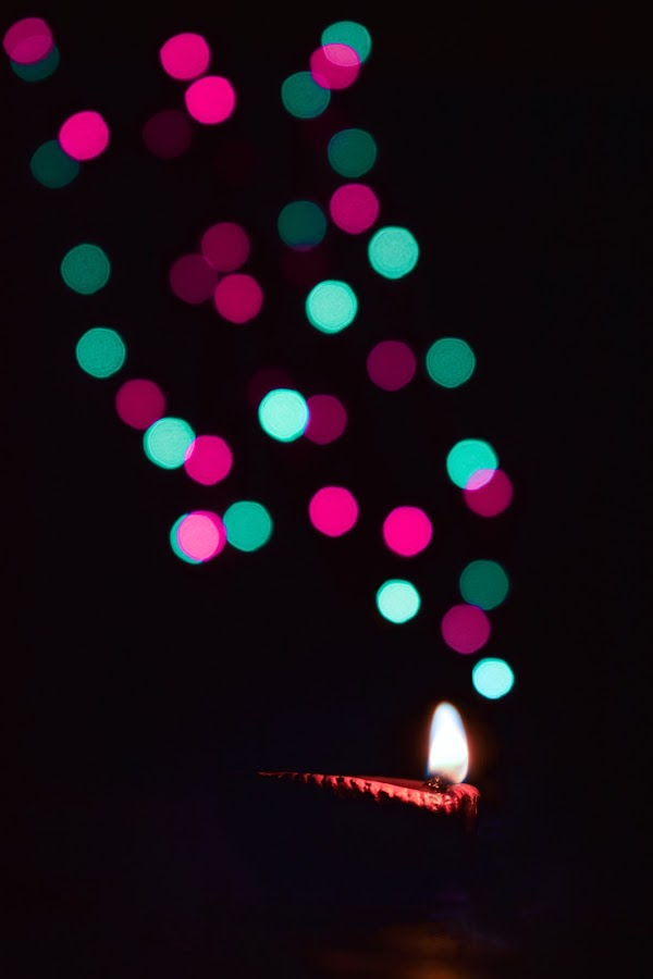 Diwali Lights by Himadri Sekhar  Roy - Abstract Patterns ( lights, pattern, color, festival, bokeh )