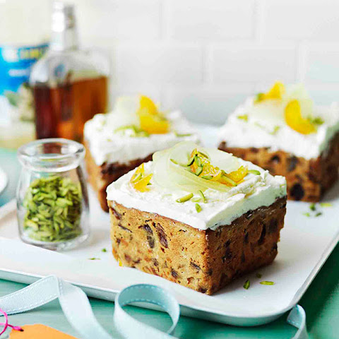 Middle Eastern fruit cakes with orange-blossom meringue
