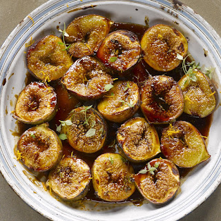 Roasted Figs With Pomegranate Molasses And Orange Zest