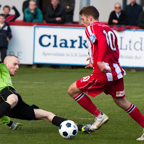 Altrincham Vs Droylsden by Michael Ripley - Sports & Fitness Soccer/Association football ( altrincham, football, blue square north, non league, soccer )