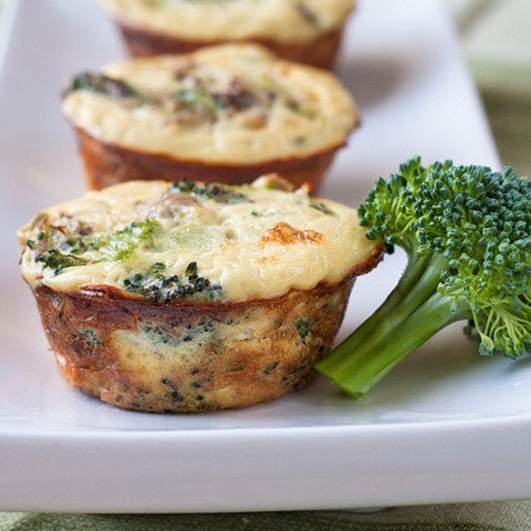 0% fat. Egg muffins with broccoli — a great snack!