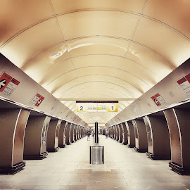 Subway Station  by Michal Kostka - Instagram & Mobile Android ( subway, station, czech, underground, prague )