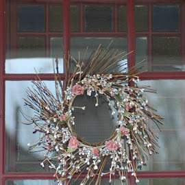 Maine door by Christie Schiffelbian - Buildings & Architecture Other Exteriors ( doors, window, door, flowers )