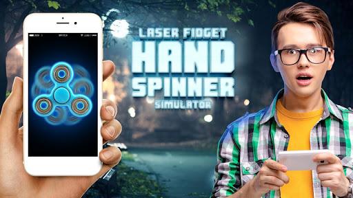 Laser fidget hand spinner