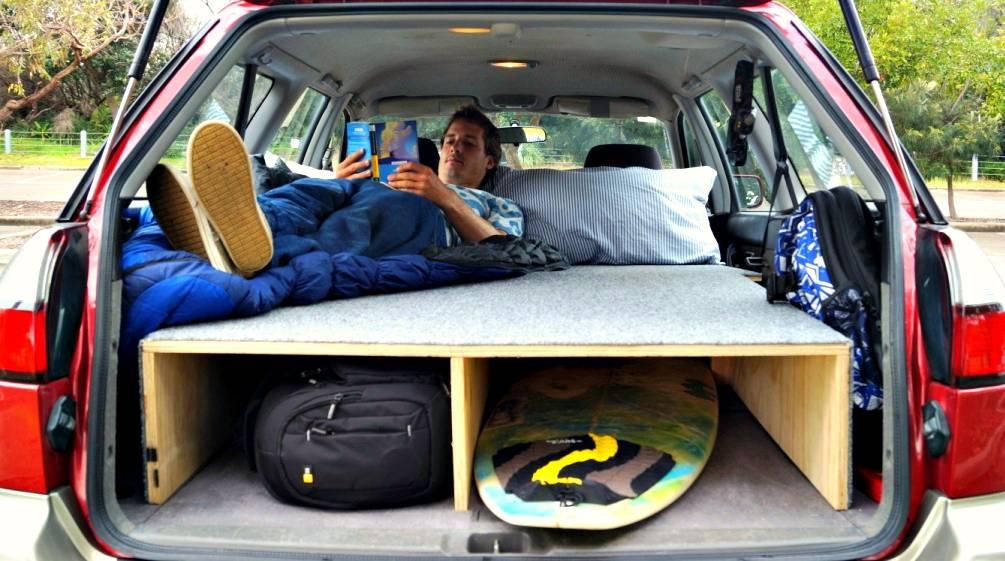 Rav4 Cargo Dimensions >> LARS ZEEKAF | How I built a bed in my car in 3 simple steps (+video)