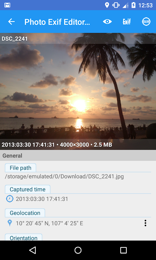 Photo Exif Editor Pro Screenshot 3