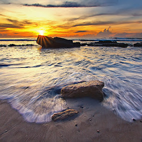 Manyar Waves Stream by Satrya Prabawa - Landscapes Waterscapes ( beach bali indonesia gianyar )