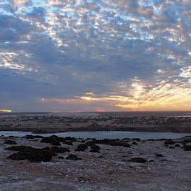 Sky at Dusk by Pamela Howard - Landscapes Cloud Formations ( clouds, sky, sa, sunset, fowlers, west coast, beach, surf, country )