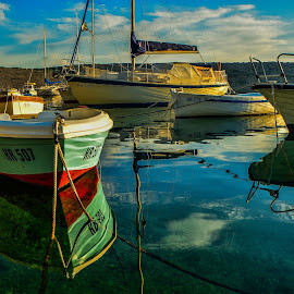 boat and reflection by Eseker RI - Transportation Boats (  )