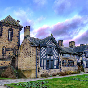 Shibden Hall by James Holdsworth - Buildings & Architecture Public & Historical ( clouds, tudor, building, hall, sky, gardens, historic )