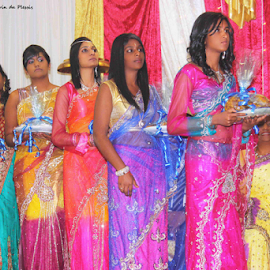 Colorful parade by Gavin Plessis - Wedding Ceremony ( wedding, colors, gifts, sari, indian wedding,  )