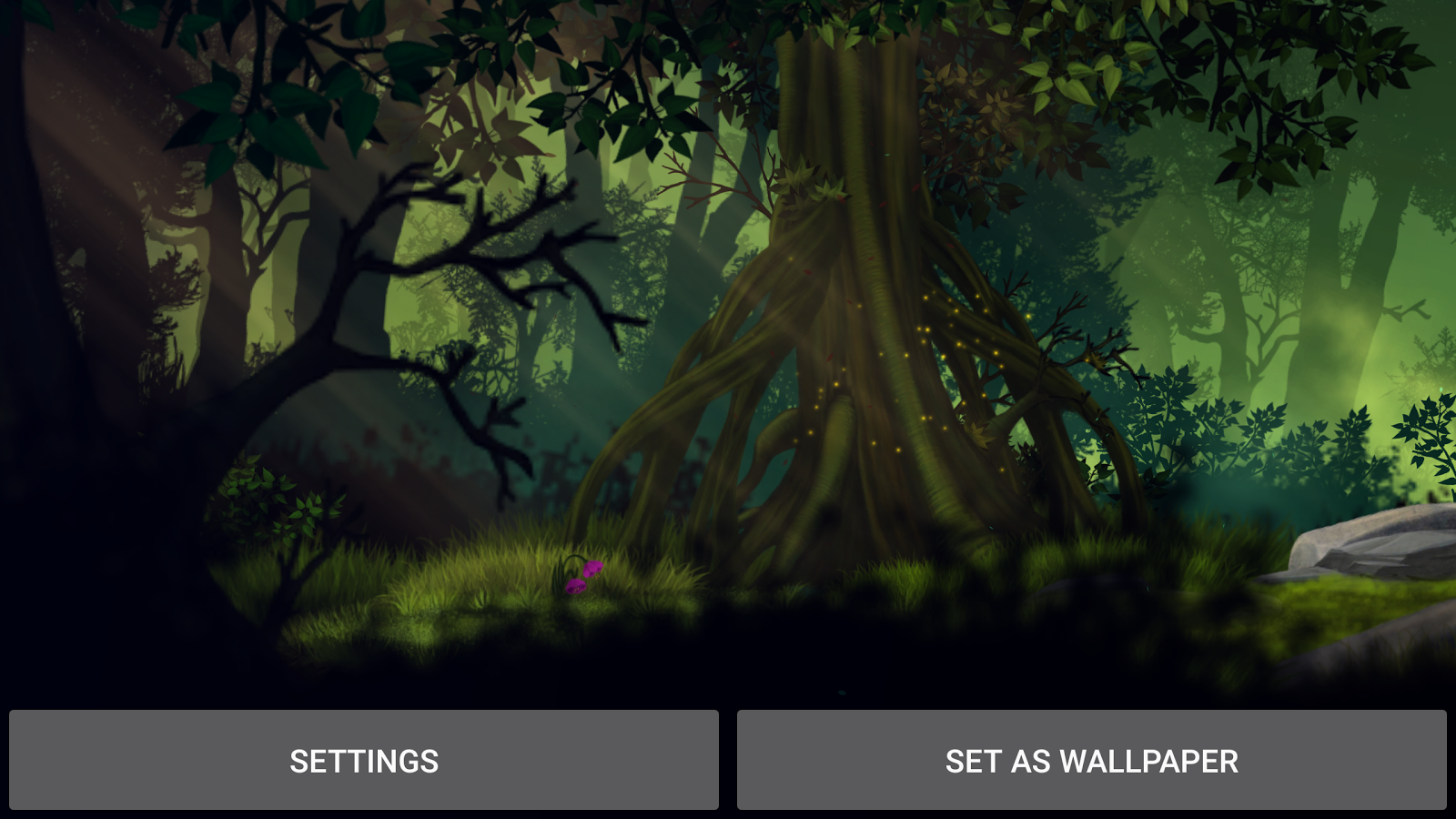 Firefly Forest Live Wallpaper Screenshot 9