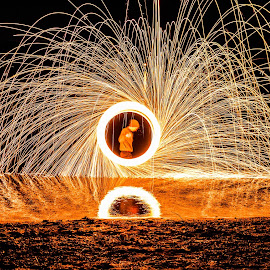 mirror of fire  by Andrew Jouffray - Abstract Light Painting