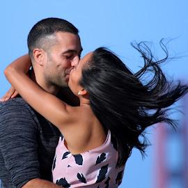 We Are So In LoVe by Raphael RaCcoon - People Couples ( love, golden gate bridge, wedding, bride, groom )