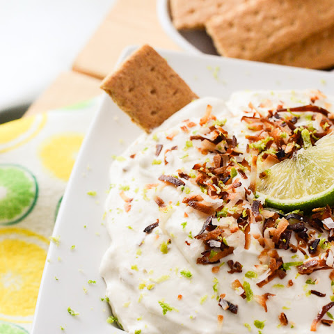 Coconut Key Lime Cheesecake Dip #SundaySupper