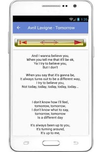 Avril Lavigne Lyrics - screenshot