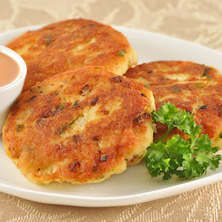 Golden Fish Patties with Chipotle-Orange Dipping Sauce