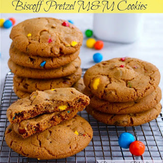 Biscoff Pretzel M&M Cookies