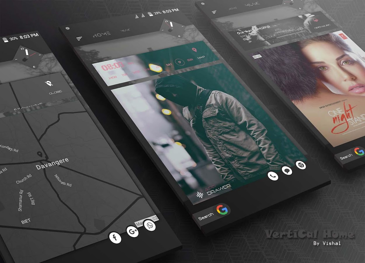VerTical Home KLWP Screenshot 1
