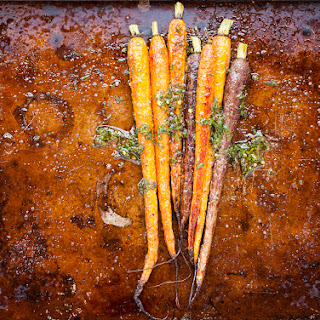 Roasted Carrots with Lemon-Cumin-Honey Glaze