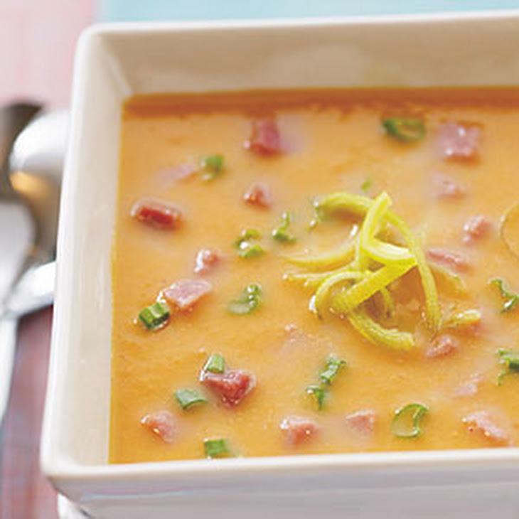 Sweet Potato, Leek, and Ham Soup Recipe | Yummly