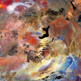 Copper Pan by Leah Zisserson - Abstract Patterns ( metal, copper, frying pan, pan, colors,  )