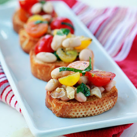 Cherry Tomato & White Bean Bruschetta