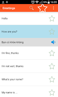 Learn Vietnamese phrase book - screenshot
