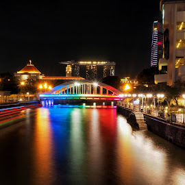 Nightview by David Loarid - City,  Street & Park  Night