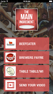 Whitbread Restaurants Menu - screenshot