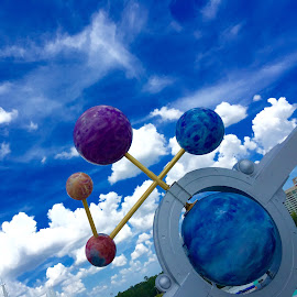 Global Warming by Lorna Littrell - Artistic Objects Other Objects ( planets, colorful, artistic objects, space, globe, science,  )