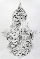 James Mortimer Pen and Ink Drawing