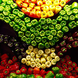 Wall of Peppers! by Lope Piamonte Jr - Food & Drink Fruits & Vegetables (  )