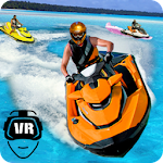 VR Water Real Boat 3D Race Icon