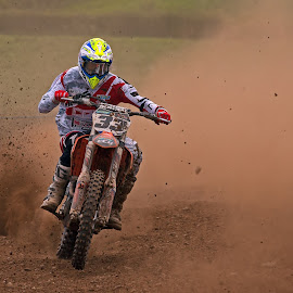 Dust Storm by Geoff Campbell - Sports & Fitness Motorsports ( motocross, dust, action, motox, sport, motorcycle, motorsport )