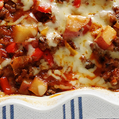 Sweet Italian Sausage, Pepper and Potato Bake
