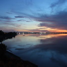 At dusk on the Srangan island  by Komang Ksumastra - Landscapes Beaches