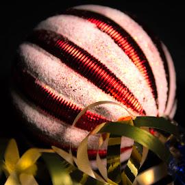 Ornament and Ribon by Anthony Balzarini - Public Holidays Christmas ( holiday, #ornament, #photography, #decoration, #christmas )