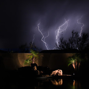 Heat Lightning by Josiah Blizzard - Landscapes Weather ( heat lightning arizona night )