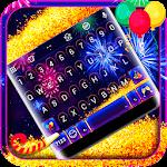 Happy New Year 2018 Keyboard Icon