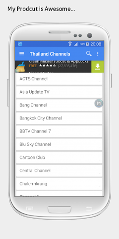 android Thailand TV sat info Screenshot 1